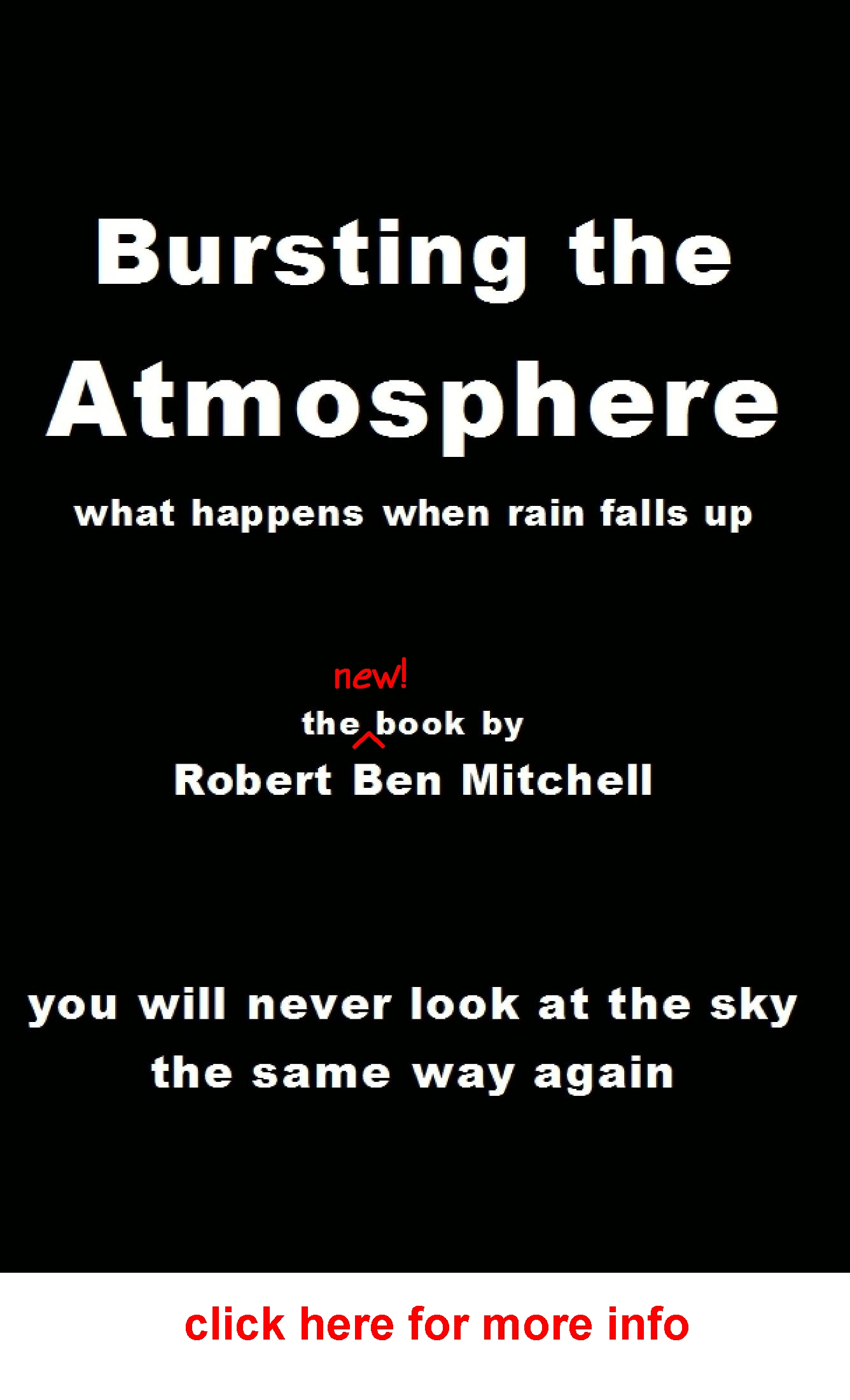 Bursting the Atmosphere - the book by Robert Ben Mitchell